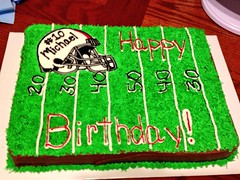 Football Cake by Danya, Las Vegas, NV, www.birthdaycakes4free.com