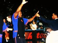 NY Knicks Larry Johnson NBA Photos 1998 (Philip Osborne Photography) Tags: ny fuji photos charlotte johnson larry 1998 nba hornets knicks ga645z