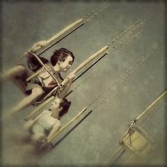 wanderlust (Janine Graf) Tags: summer 6x6 kids ride fair swing wanderlust wa evergreenstatefair janine1968 janinegraf snapseed moderngrunge idtravelwitheddieredmayneifonlyhedaskme
