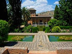 Alhambra Palace gardens, Granada, Andalucia, Spain (Mikey Stephens) Tags: gardens spain palace andalucia alhambra granada