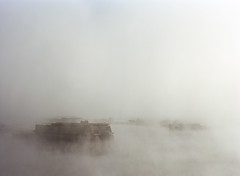 Boat Launch in Fog (bior) Tags: morning mist lake 120 film fog docks mediumformat iso100 boat pentax kodak pinecrest boatlaunch kodakfilm ektar pentax645 filmphotography 150mm pinecrestlake kodakektar 6x45cm pentax645nii ektar100 pentaxsmca150mmf35