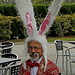 Robert Ramos wearing LONG rabbit ears deYoung Museum Cafe Golden Gate Park San Francisco 131027-144838 C4Tc