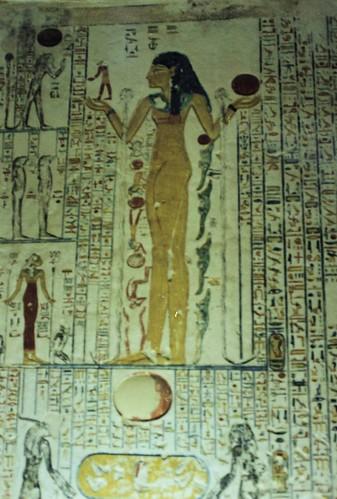 Egipto. Valle de los Reyes. Pinturas y grabados en una tumba