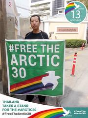 คนไทยร่วมยืนหยัดเคียงข้างนักกิจกรรมปกป้องอาร์กติก