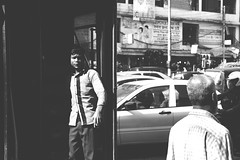 Echo of a busy time (Hermaenos) Tags: street people bw canon streetphotography 60d vftw
