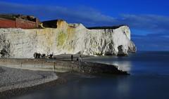 Admiring the scene (Rob McC) Tags: sea england seascape reflection water landscape sussex chalk cliffs coastline seaford nd400filter 1855mmvr nikond3000