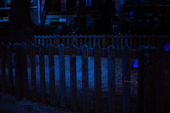Fatuous I (Veistim) Tags: blue sunset dark photography mood moody deep indigo fences deepblue indigoblue bluehours cmwd cmwdblue
