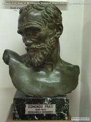 Edmondo Prati Busto di Michelangelo Buonarroti Bronzo Biblioteca comunale Caldonazzo