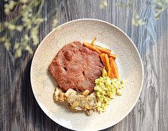 Fried Steak (EndlessJune) Tags: food yummy egg plate  delicious butter steak villa carrot fried fillet foodphotography deliciousfoods       nikond7000