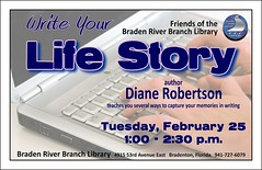 Friends of the Braden River Library: Write Your Life Story (Manatee County Public Library) Tags: county library libraries manatee govt manateecounty bradenriverlibrary bradenriver manateecountypubliclibrary manateecountypubliclibrarysystem manateelibrary manateecountylibrary bradenriverbranchlibrary friendsofthebradenriverbranchlibrary bradenriverbranch bradenriverfriendsofthelibrary mcpls manateecountygovernment wwwmymanateeorg
