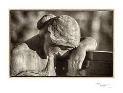 Lean on Me (heritagefutures) Tags: camera morning friedhof cemetery statue bronze project germany nikon hessen antique bad ser sha simulator soden taunus d800 hexar f35 hessia iia 20cm rokuoh sodents