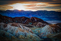 Fire in the Sky (J*Phillips) Tags: california sunset desert backgrounds deathvalley geology zabriskiepoint nationalparks drama