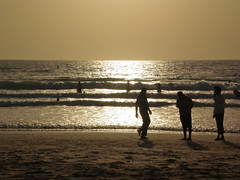 evening beach life at Jumeirah Beach (*carsteanca*) Tags: travel family sunset summer sky beach boys kids children fun evening seaside sand scenery dubai gulf beachlife arabic burjalarab jumeirah persiangulf jumeirahbeach sealandscape