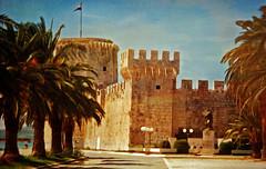 Trogir: Kamerlengo Castle (etva101) Tags: castle texture architecture photomanipulation buildings croatia trogir kamerlengocastle