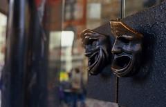 Observing masks (Stephen Dowling) Tags: london film 35mm slide chinesenewyear m42 expired e100vs smctakumar5518 pentaxesii kodakeektachrome