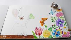 "Pupito : ""Happiness"" (Milagritos9) Tags: rose tulips visualjournal mariposas happybunny whiterabbit petportrait tulipanes mily artistjournal visualdiary cutebunny milagritos cuterabbit illustratedjournal pupito moleskinejournals butterflyquote flowerspainting petjournal artmoleskine artistnotebook conejitoblanco rabbitportrait rabbitillustration butterflyillustration inspirationaljournal milycha spiritualjournal rabbitjournal moleskineartpages floresilustracin retratomascota moleskinehandmade watercoloursmoleskine moleskinepaintings moleskinewatercoloursnotebook dibujosmoleskine rabbitmoleskine petdream"