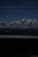 Eastern Alaska Range at night
