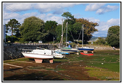 Tides Out - Cockwood Harbour, near Starcross , Devon England - A beautiful Place to Visit. (Bill E2011) Tags: england beauty sailing harbour estuary devon boating exe dawlish starcross cockwood