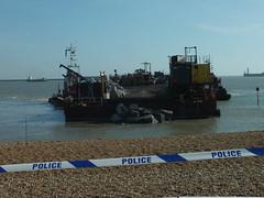 Dover Beach Works (Paul @ Doverpast.co.uk) Tags: uk england beach rock coast kent harbour coastal works groyne dover larvic