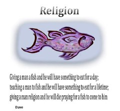 god fish quotation (jesulvis) Tags: fish fishing funny religion cartoon philosophy bible quotation