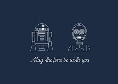 Intergalactic friends (KissTheDesigner) Tags: illustration fun star design fan force flat graphic icon r2d2 jedi wars epic vector c3po galactic