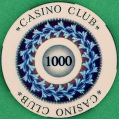 CASINO CLUB 1000 (Leo Reynolds) Tags: gambling canon eos iso100 casino poker button marker chip squaredcircle 60mm token f80 buck pokerchip 40d hpexif 0017sec 033ev xleol30x sqset103 xxx2014xxx