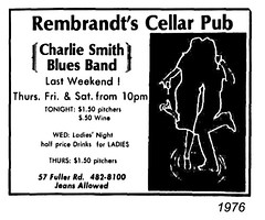 Charlie Smith Blues Band Rembrandts Cellar Pub  Fuller Rd  1976  albany ny 1970s (albany group archive) Tags: ny pub band blues smith charlie albany 1970s cellar 1976 rd fuller rembrandts
