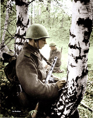 Soviet soldier writes a letter (Za Rodinu) Tags: world 2 man men history vintage soldier war gun russia military rifle rifles front german weapon ww2 soldiers historical guns 1942 1945 rare troops 1944 1943