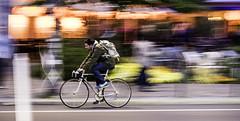 Man on Racing Bicycle (kohlmann.sascha) Tags: street people man blur berlin bike bicycle deutschland cyclist traffic streetphotography technik blurred menschen motionblur backpack ciclista bicyclist mann rucksack technique verkehr unscharf velo fahrrad reise cycliste mensch rennrad bewegungsunschärfe twowheeler racingbicycle unschärfe fortbewegungsmittel bicyclerider fahrradfahrer zweirad biciclo deuxroues streetfotografie strasenfotografie elciclista 两轮车 велосипеди́ст reiseutensilien