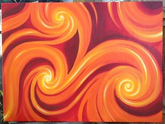 Sustenance (Martin Whitmore) Tags: vortex art painting spiral fire golden warm acrylic triskelion
