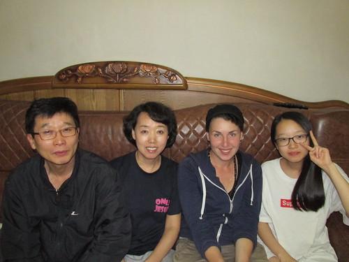 Avec la famille de Sue, Séoul, Corée du Sud