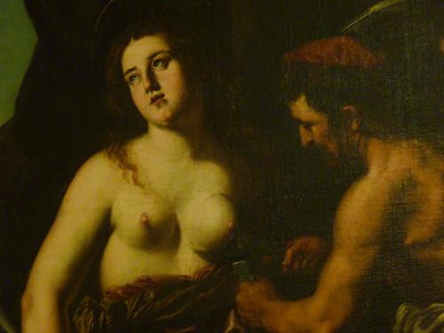 Valletta - National Museum of Fine Arts - Martyrdom of St Agatha, BAGLIONE follower of Caravaggio (2)