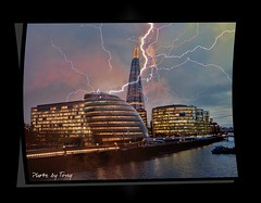 City Hall and the Shard (Lt Frank Drebin) Tags: london shard