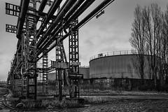 'Petrol' 04 (jefvandenhoute) Tags: blackandwhite industry monochrome lines photoshop nikon mood belgium belgique shapes belgië antwerp antwerpen industrialarcheology antwerpenzuid nikond800 photoshopcs6