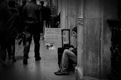 (Felices fiestas) (Mara Blanco Photography) Tags: street boy portrait urban bw white man black guy byn blanco photography monocromo navidad photo calle sevilla nikon loneliness retrato homeless negro social urbana soledad fotografia hombre chritsmas documentalismo d5100