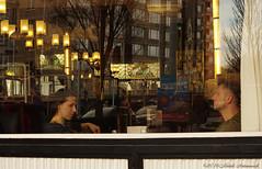 Belgian coast (Natali Antonovich) Tags: portrait reflection seaside cafe couple pair profile lifestyle tradition oostende seashore seasideresort belgiancoast seaboard heandshe