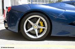Ferrari LaFerrari (3) (Fabry_C) Tags: auto blue disco italia mechanical blu engine tire ferrari brake rims rare scuderia supercar velocit maranello brembo v12 motore sportiva cavallino rampante freno cerchione laferrari