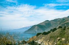 45430018 (danimyths) Tags: ocean california mountains film beach nature water landscape coast waterfront pacific roadtrip pch pacificocean westcoast pacificcoastalhighway filmphotography