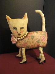 Fancy Cat by sandy mastroni (Sandy Mastroni) Tags: redlipstick etsy blackheels fancycat catartdoll copyrightsandymastroni