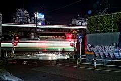 (sinkdd) Tags: streetart japan train tokyo nikon grafitti crossing overpass jr  yoyogi nikkor railroadcrossing d800 yamanoteline saikyoline f4g jreast   yoyogistation streetsnap  nikond800 2412mm afsnikkor24120mmf4gedvr