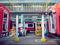 Keikyu Fine-tec Kurihama Factory   (: : Ys [waiz] : :) Tags: red japan train symmetry   kanagawa ricoh railfan yokosuka keikyu    grd    grd4