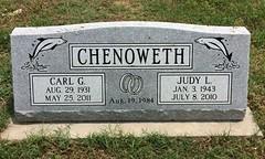 Chenoweth Headstone (eloisedv) Tags: oklahoma cemetery headstone gravemarker cartercounty lonegrove