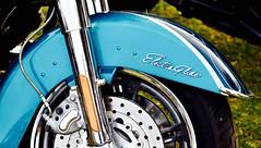 Electra Glide (lizfy30) Tags: blue bike wheel nikon line motorbike chrome brake disc electra glide d5500