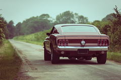 Ford Mustang Mach 1 (1969) (antoinedellenbach.com) Tags: road trip france cars ford car race canon vintage photography eos classiccar automobile photographie automotive voiture route american 7d shooting 28 usm mustang fr 70200 v8 musclecar lightroom balade ponycar fastback mach1 351w sportsroof apsc 7d2 7dmarkii