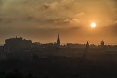Misty Edinburgh Sunset (Colin Myers Photography) Tags: city sunset sun colin misty set skyline photography scotland edinburgh cityscape foggy scottish scape auld myers edinburghsunset auldreekie reekie scottishsunset scotlandsunset colinmyersphotography wwwcolinmyerscom