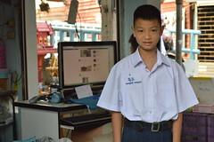 boy in school uniform (the foreign photographer - ) Tags: school boy portraits thailand nikon uniform bangkok primary khlong bangkhen thanon d3200