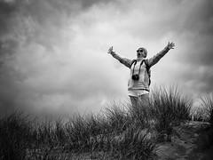 Outburst of Joy . (kitchou1 Thanx 4 UR Visits Coms+Faves.) Tags: world friends people bw seascape france season landscape spring europe exterior nb printemps saison