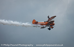 Breitling Stearman Wingwalker Plane (Philip Pound Photography) Tags: plane airplane flying hill flight boeing biplane biggin stearman breitling festivalofflight