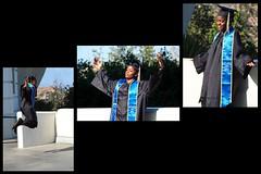 Chacun porte son bonheur en soi (Phoebus58) Tags: california blue usa scarf losangeles university olympus bleu etudiant griffithpark triptyque universite echarpe toge lasc studient