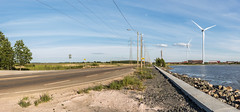 Windmill highway (tomi.wahlroos) Tags: ocean road lake water windmill suomi finland landscape pori